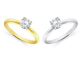 80% off 14K 3/4 Carat Diamond Solitaire Engagement Ring
