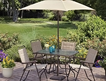 Deal: Mainstays Glenmeadow 6-Piece Folding Patio Dining Set