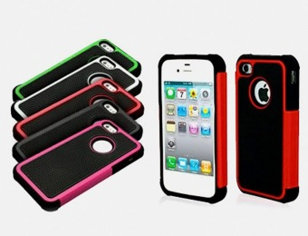 85% off Armor Hybrid Shockproof Case for iPhone 4/4S & 5