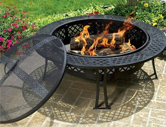$191 off CobraCo Diamond Mesh Fire Pit with Screen and Cover
