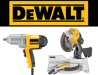 Save Up to 50% On Select DEWALT Tools and Accessories