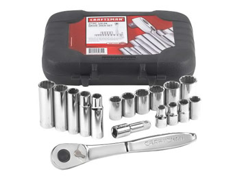 "$30 Off Craftsman 17 pc. 12 pt. 1/2"" Drive Socket Set"