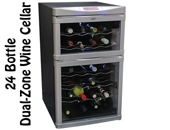 33% Off Koolatron 24 Bottle Wine Cellar, Dual-Zone