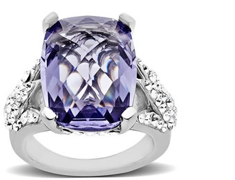 59% Off Sterling Silver Ring with 10 ct Swarovski Crystal