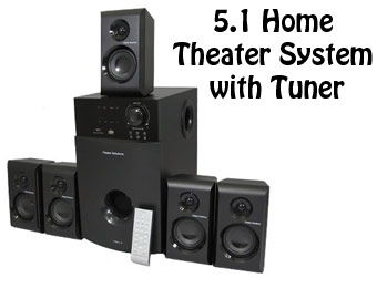 65% Off Theater Solutions TS512 5.1 Home Theater Speaker System