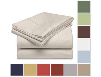 81% Off Luxury Hotel Collection Solid Sheet Set, Full or Queen