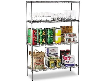 "$268 off Alera Wire Shelving Starter Kit with 4 Shelves, 48""x18""x72"""