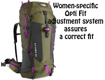 $169 Off The North Face Women's La Loba 60 Hiking Pack