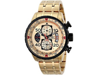 90% off Invicta Aviator Gold Plated Chronograph Men's Watch 17205