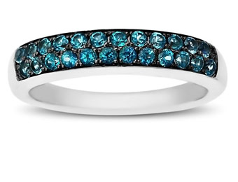 81% Off Sterling Silver Paraiba Blue Topaz Ring