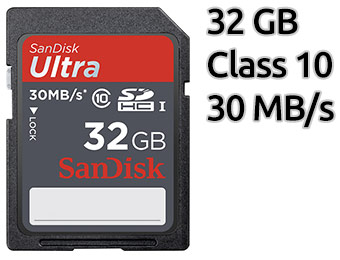 $50 off SanDisk Ultra 32GB SDHC Class 10 Memory Card
