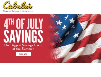 Cabela's 4th of July Sale - Outfit Your 4th of July Barbecue & Party