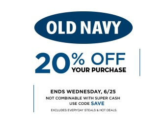 Extra 20% off Your Online Purchase at Old Navy