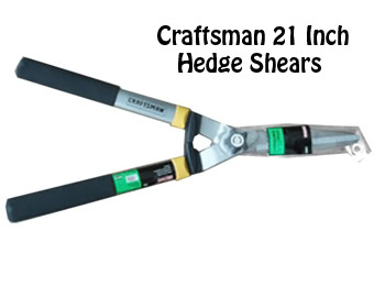 50% Off Craftsman 21 in. Hedge Shears