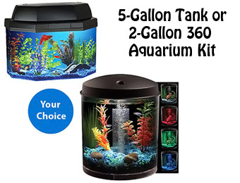 Hawkeye 5-Gallon Tank or 2-Gallon 360 Aquarium Kit
