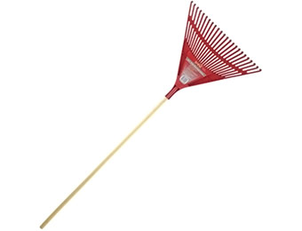 "Deal: 24"" Poly Fan Rake"
