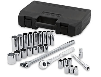 "78% off Craftsman Professional 26pc 1/2"" Socket Set w/ SAVENOW"