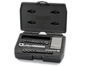 "66% off Craftsman Professional 27pc 1/4"" Socket Set w/ SAVENOW"