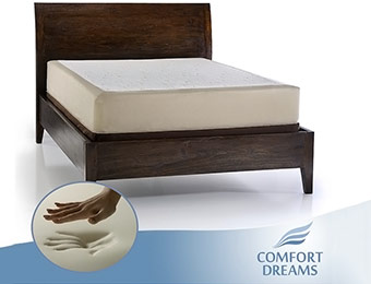 "69% off Comfort Dreams 11"" Queen Memory Foam Mattress"