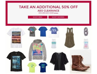 Additional 50% off American Eagle Outfitters Clearance Sale