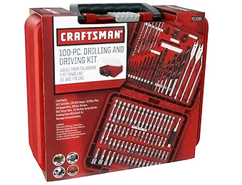 55% off Craftsman 100pc Drill Accessory Kit w/ code SAVENOW