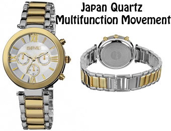 91% Off August Steiner MOP Dial Two-Tone Women's Watch
