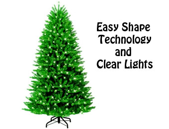 50% Off GE 7ft Grand Fir Christmas Tree w/ Clear Lights