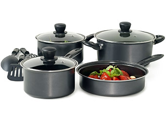 55% off Basic Essentials 10pc Carbon Cookware w/ SAVENOW
