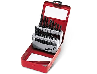 46% off Craftsman 21 pc Black Oxide Drill Bit Set w/ SAVENOW