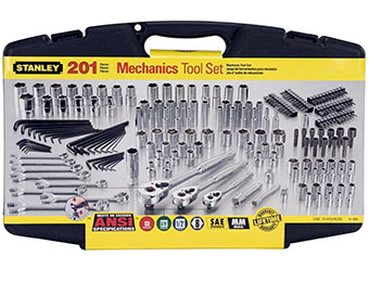 $42 off Stanley 91-988 201-Piece Drive Mechanics Tool Set
