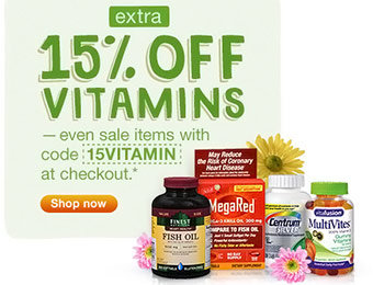 Extra 15% off Vitamins and Supplements w/ code 15VITAMIN