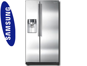 $340 off Samsung 25.5 Cu Ft Side-by-Side Stainless Refrigerator