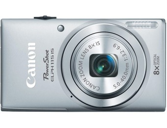 $98 off Canon PowerShot ELPH 115 IS 16.0-Mp Digital Camera - Silver