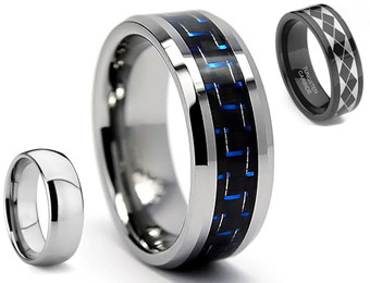 Up To 89% Off Men's Tungsten Rings
