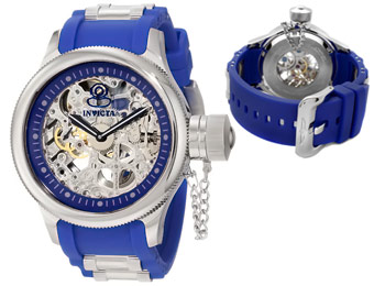 91% Off Invicta 1089 Russian Diver Mechanical Skeleton Watch