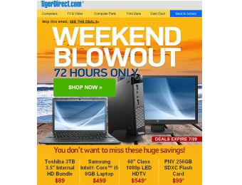 Tiger Direct 72 Hour Blowout Sale - Tons of Great Deals