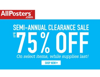 Allposters.com Summer Sale - Up to 75% off
