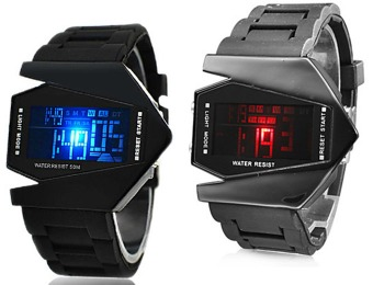 50% off Colorful LED V Edition Silicone Band Wrist Watch