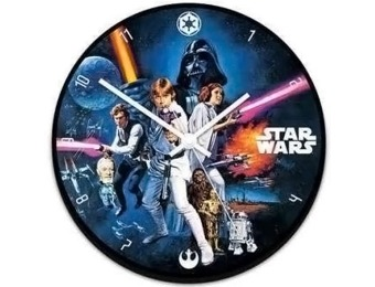 62% off Star Wars Movie Poster Wood Wall Clock
