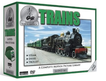70% Off Trains of North America 24 DVD Box Set