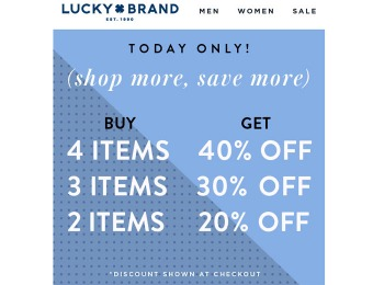 Lucky Brand One Day Sale - Save up to 40% off
