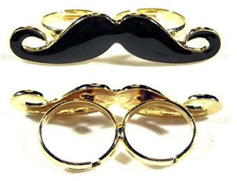 92% off Handlebar Mustache Vintage Adjustable Double Ring