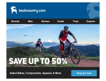 Backcountry Sale - Up to 50% off Bikes & Accessories