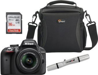 $50 off Nikon D3300 24.2MP DSLR Camera Kit with 18-55mm Lens
