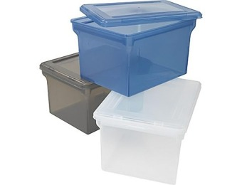 44% off Staples Letter/Legal File Boxes, 3 Styles