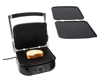 73% Off Maxam KTELPG2 Panini Grill with Detachable Trays