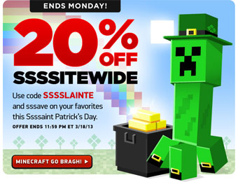20% Off Everything at ThinkGeek with Code: SSSSLAINTE