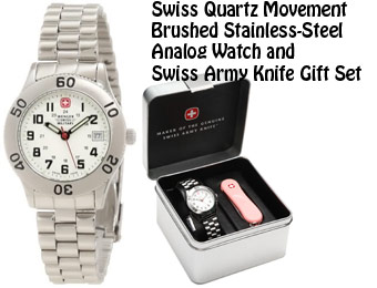 74% Off Wenger Swiss Military 62960 Grenadier Watch & Knife Set