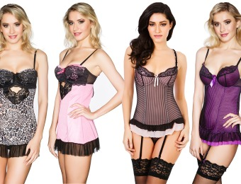 78% off Black Fuchsia Chemises and Corsets, 4 Styles