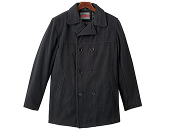 $84 off Excelled Wool Blend Peacoat (black, charcoal, or gray)